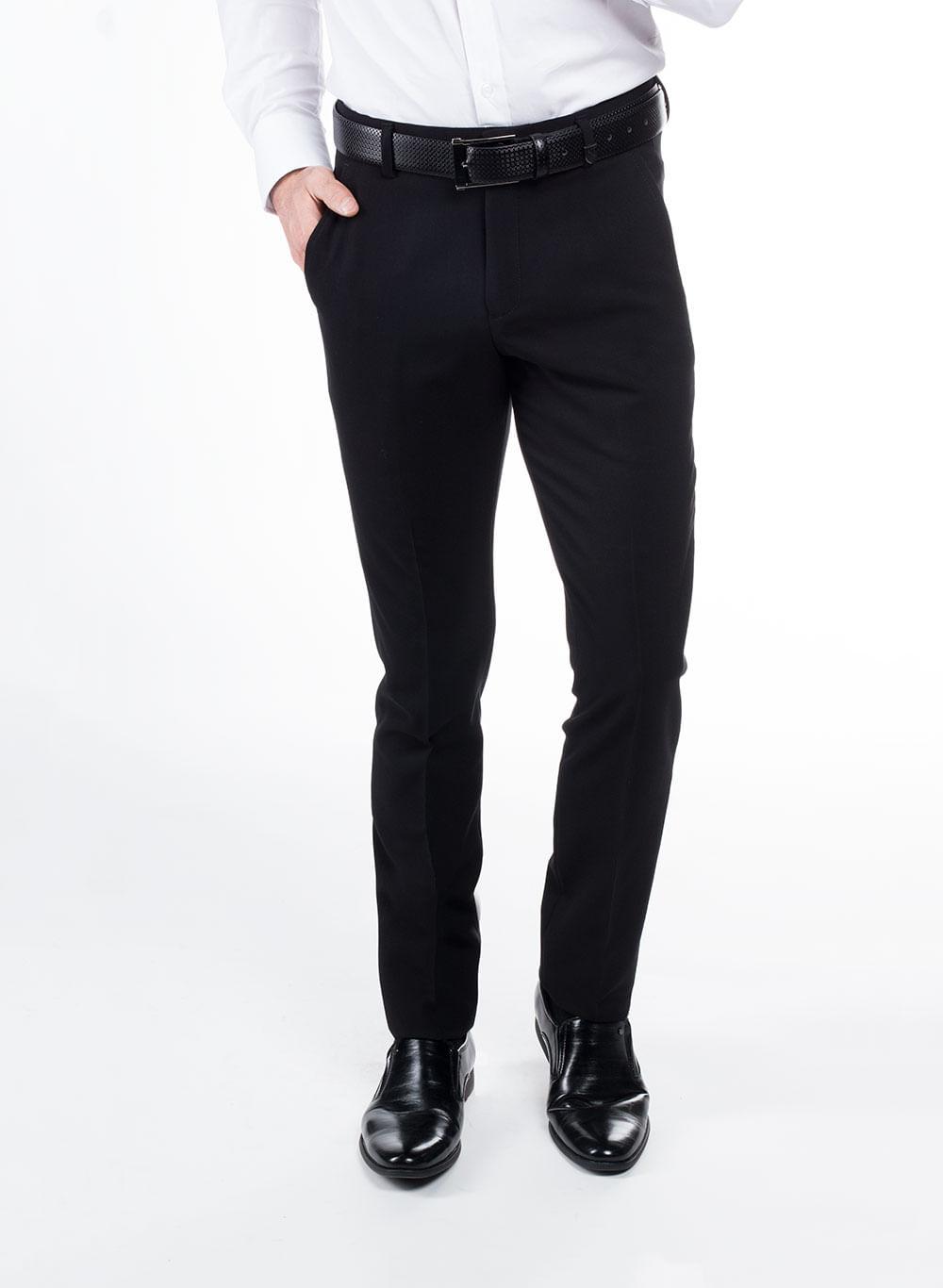 Pantalon De Vestir Color Negro Marca Aldo Conti Lexus