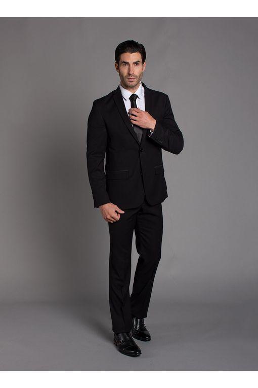 Traje formal hombre color negro