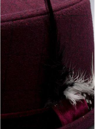 Sombrero--Accesorios-Color-VinoMarca-Argento