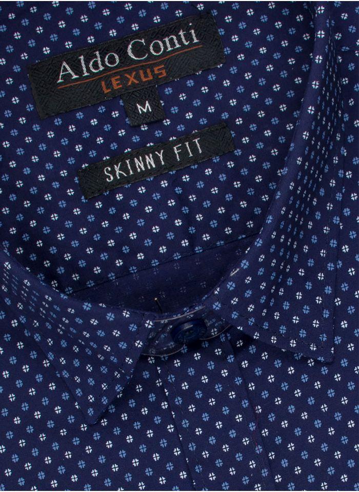 Camisa--Vestir-Color-Marino-Marca-Aldo-Conti-Lexus