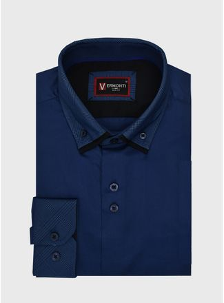 Camisa--Vestir-Color-Marino-Marca-Vermonti-Super-Slim-Fit