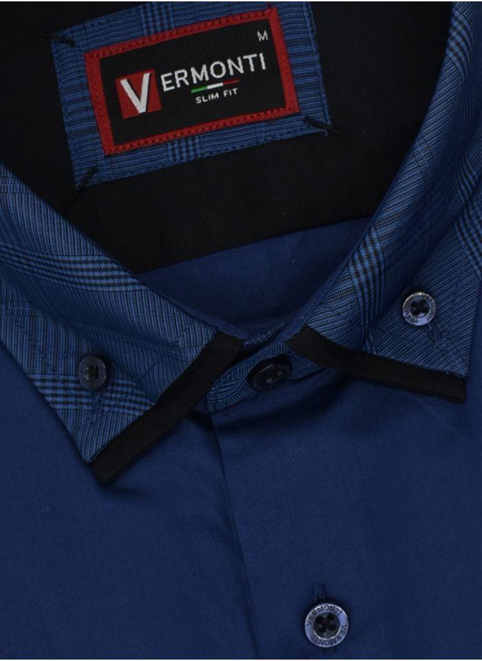 Camisa--Vestir-Color-Marino-Marca-Vermonti-Super-Slim-Fit