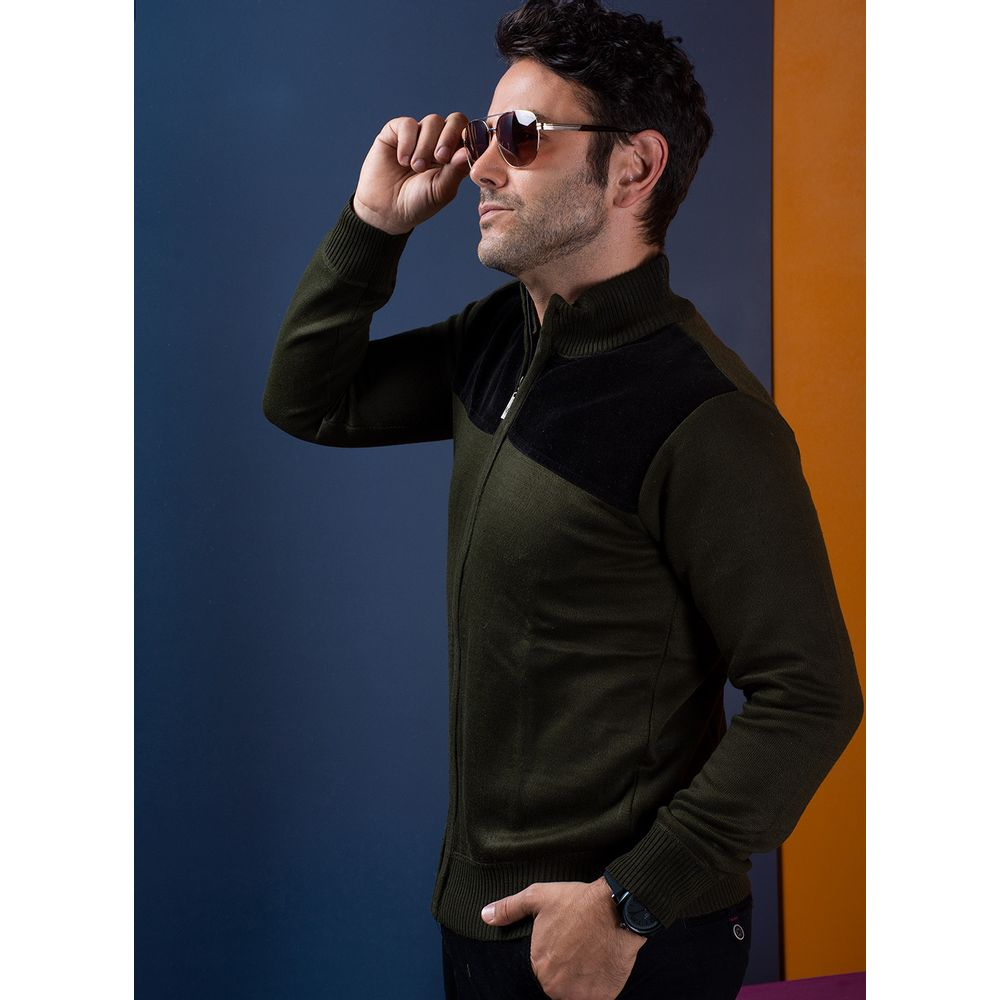 Sweater--Casual-Color-Olivo-Marca-Vermonti