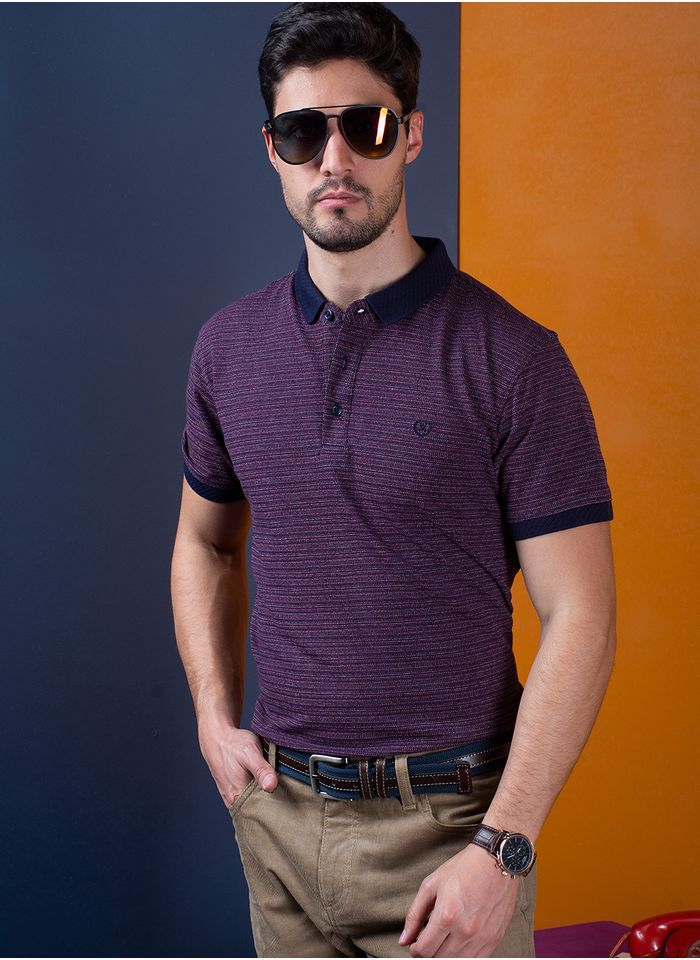 Playera--Casual-Color-VinoMarca-Vermonti