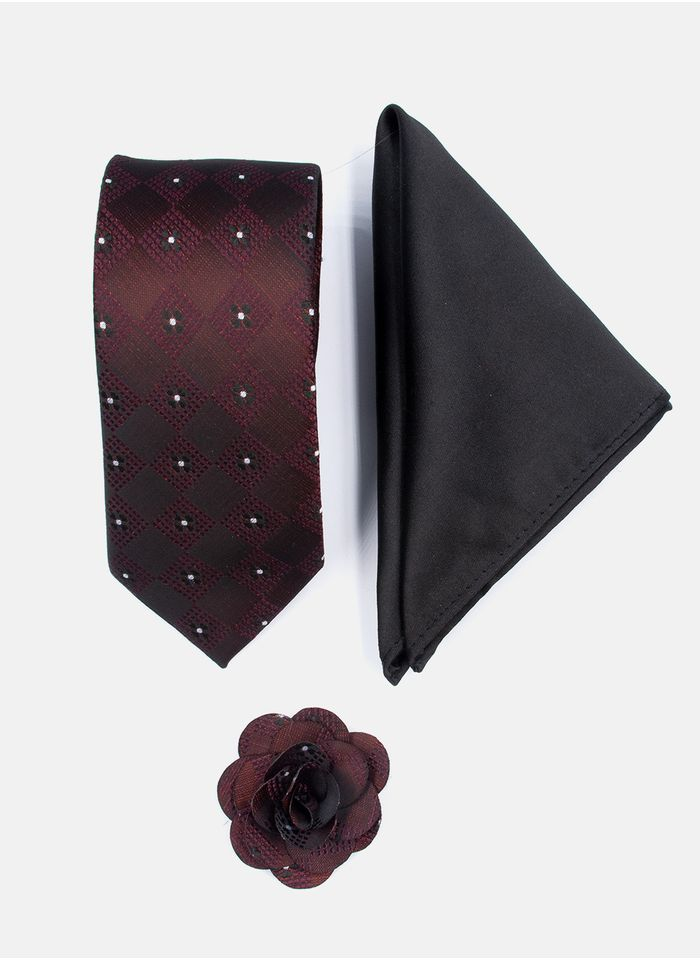 Set-Corbata-Color-Vino-Argento