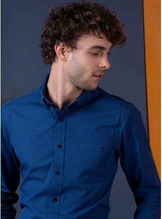 Camisa-Casual-Color-Azul-Vermonti
