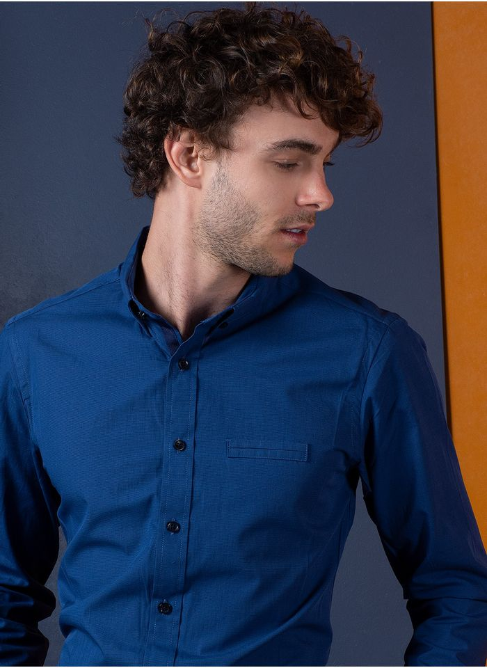 Camisa-Casual-Color-Azul-Vermonti