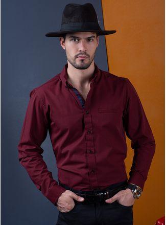 Camisa--Casual-Color-VinoMarca-Vermonti