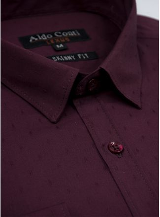 Camisa--Vestir-Color-VinoMarca-Aldo-Conti-Lexus