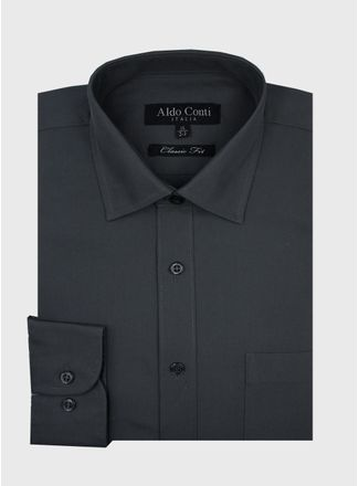 Camisa--Vestir-Color-Oxford-Marca-Aldo-Conti-Black