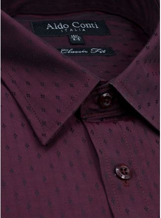 Camisa--Vestir-Color-VinoMarca-Aldo-Conti-Black