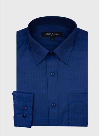 Camisa--Vestir-Color-Azul-Marca-Aldo-Conti-Black