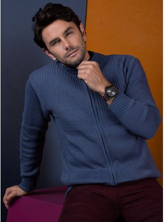 Sweater--Casual-Color-Azul-Marca-Aldo-Conti