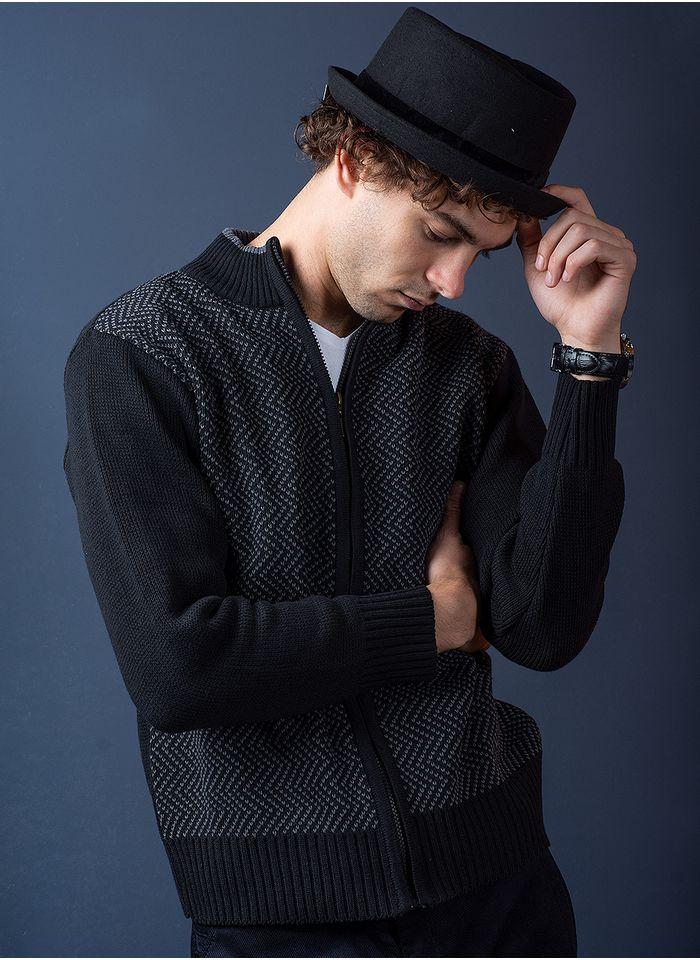 Sweater--Casual-Color-Negro-Marca-Aldo-Conti