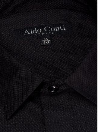 Camisa--Vestir-Color-Negro-Marca-Aldo-Conti-Black