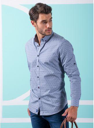 Camisa--Casual-Color-Azul-Marca-Vermonti.-Composicion---60-ALGODON-40-POLIESTER