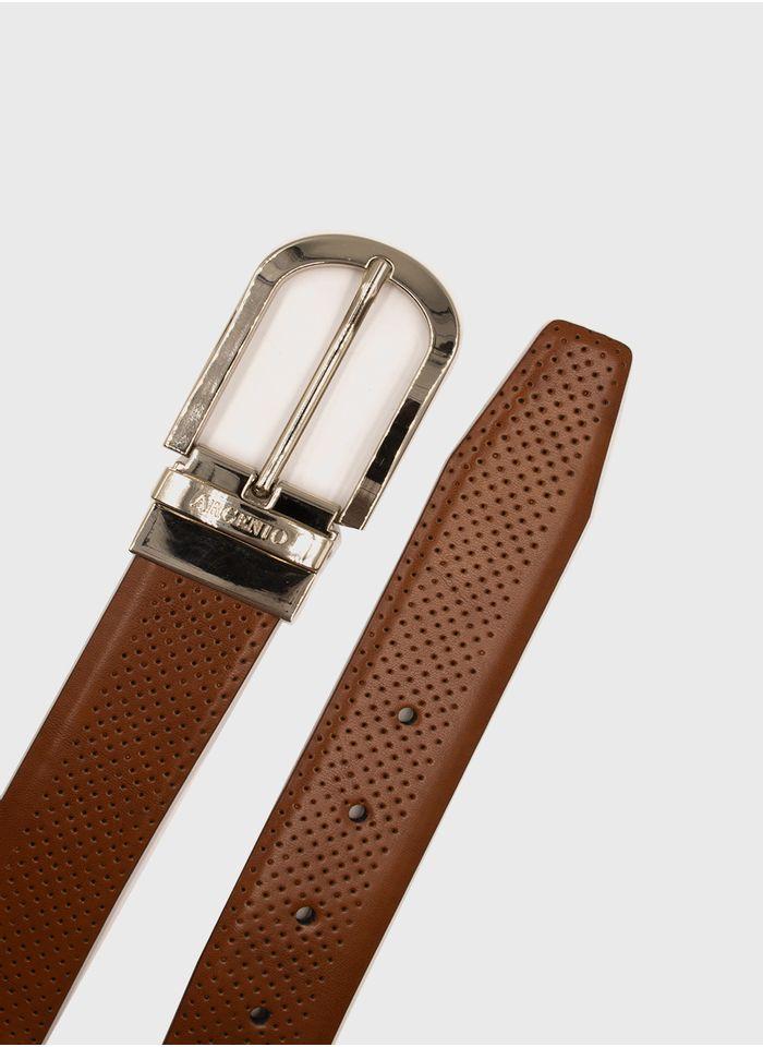 Cinturon--Accesorios-Color-Khaki-Marca-Argento.-Composicion---100--PIEL-VACUNO