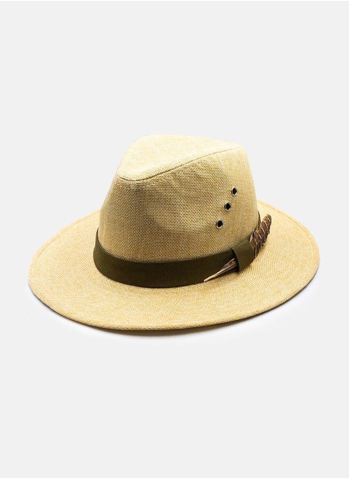 Sombrero--Accesorios-Color-Beige-Marca-Argento.-Composicion---100-PAPEL