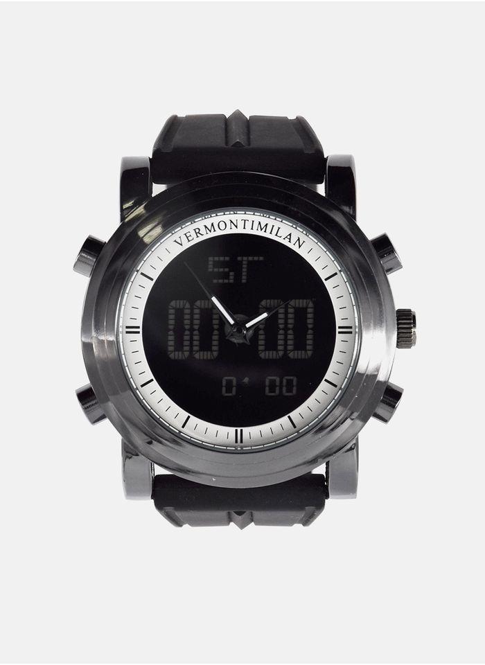 Relojes--Accesorios-Color-Negro-Marca-Vermonti.-Composicion---100-METAL