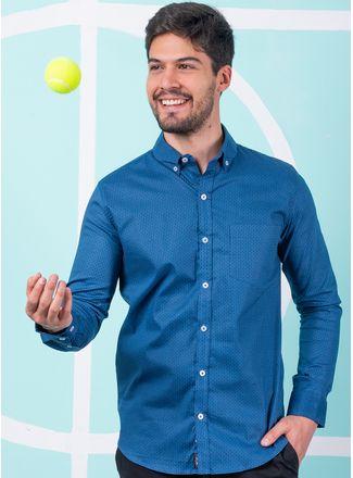 Camisa--Casual-Color-Azul-Marca-Aldo-Conti-Lexus.-Composicion---